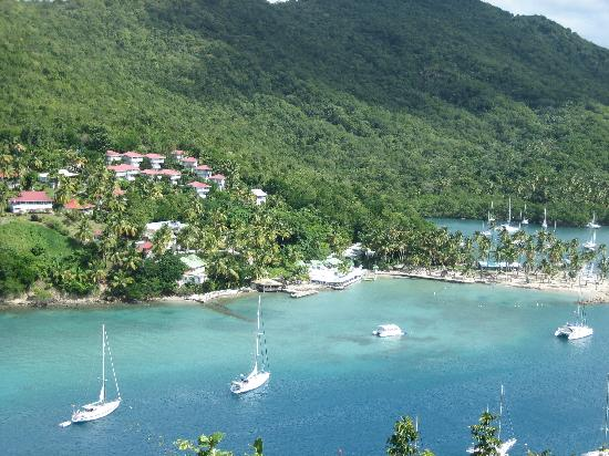 The Inn On The Bay: The view of Marigot Bay