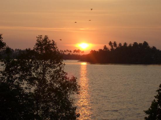 The Waterside Bentota: Sunset over lagoon