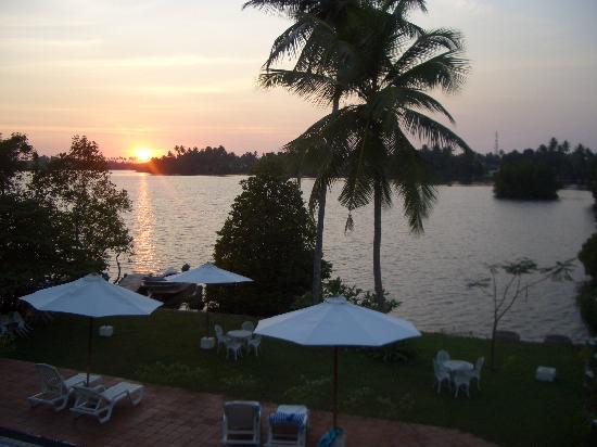 The Waterside Bentota: Sunset over pool area