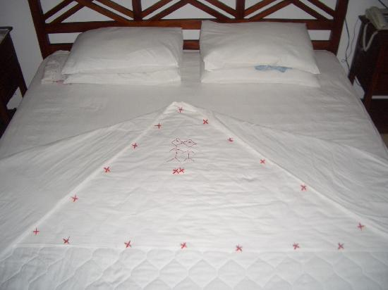 The Waterside Bentota: Bed turned down at night