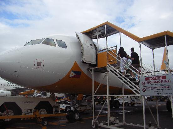 Boracay, Philippines: 国内線でカティクラン空港へ