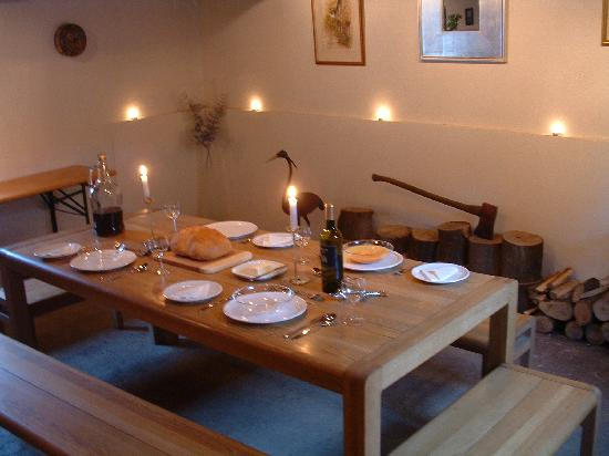 Secret Transylvania Guest House: Dining in the barn