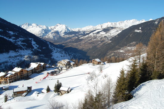 Savoie, Frankrike: view from the bottom chair lift