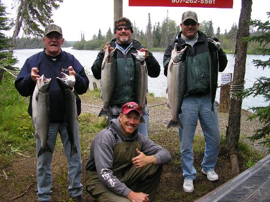 "Jimmie Jack's Alaska Lodge: Hanging out with the catch (Silver""s)"