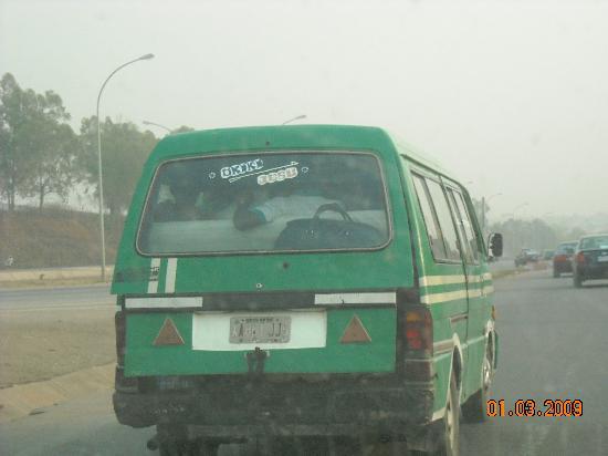 Nigeria: crowded public bus - Abuja