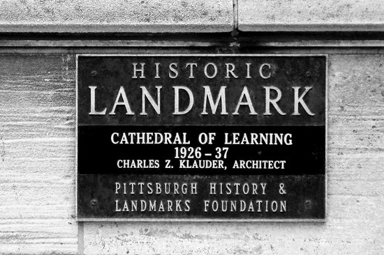 Cathedral of Learning: Landmark Plaque