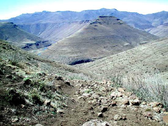 Im Tal des Malibamatso bei Thaba-Tseka