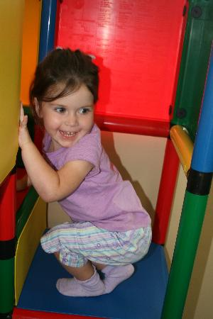Hopscotch's Playplace: Climbing on the jungle gym
