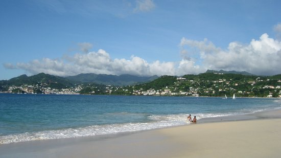 South Coast, Grenada: view looking south towards st. george's