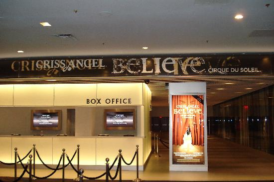 Billeterie de Criss Angel Believe