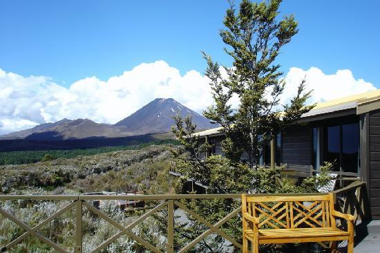 Whakapapa, Nouvelle-Zélande : view from skotel bar