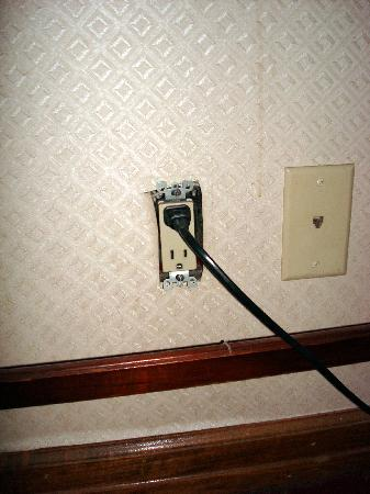 Days Inn By Wyndham Hotel New York City Broadway Electrical Socket That Came Away