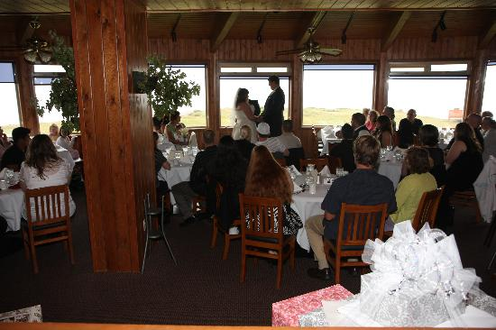Adobe Resort: The pacific room, good ole oregon weather forced our ceremony indoors
