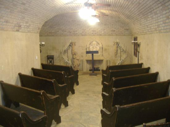 Trois Estate at Enchanted Rock: Inside the church