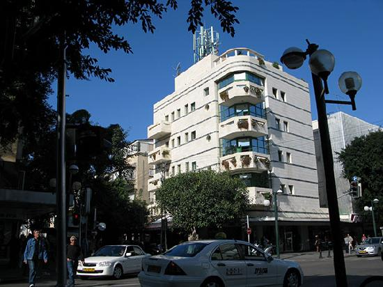 Dizengoff Suites: A view from the street