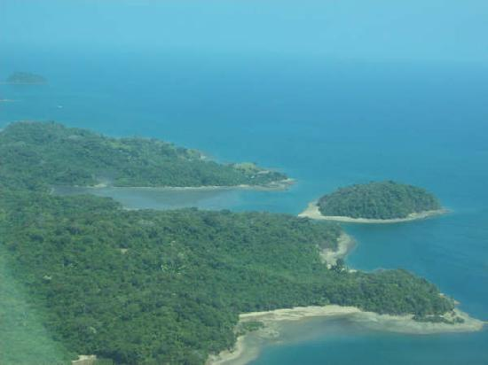 Provinz Panama, Panama: Village from the air