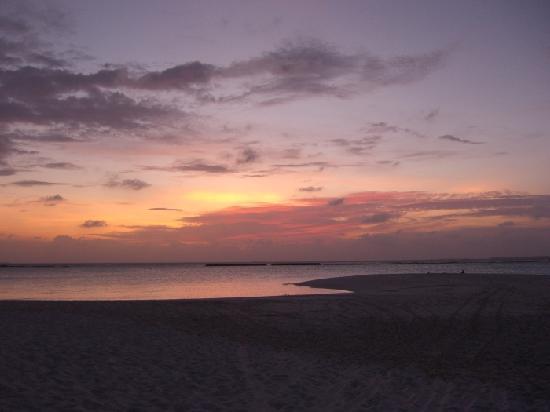 The Sun Siyam Iru Fushi Maldives: coucher soleil