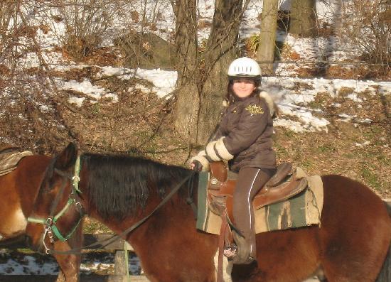 Pinegrove Family Dude Ranch: Nina on horse