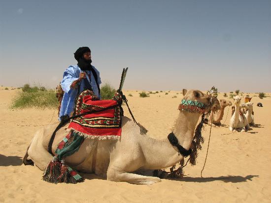 Timbuktu, Mali: Tuareg tour guide on edge of Sahara
