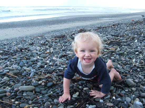 Charming Creek Bed & Breakfast: Our son at the beach!