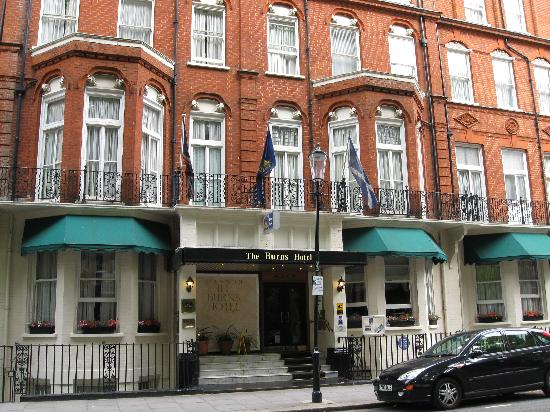 Best Western Burns Hotel Kensington Front Of