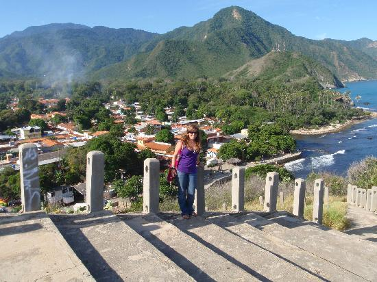 Puerto Colombia, Venezuela: Up at the cross, looking down over the village