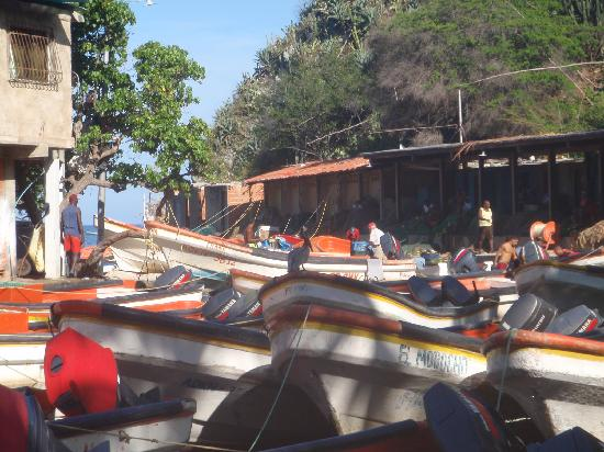Puerto Colombia, Venezuela: The boats and the fishermen early morning
