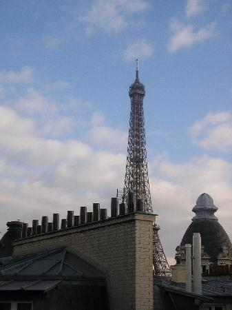 Hotel Sezz Paris: View from the stair's window