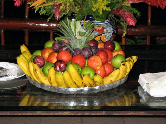 Late @ night, fruit table set up inside the Lobby - Picture of Grand ...