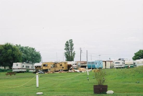 Inlet View Campground: RV graveyard is the cental hub