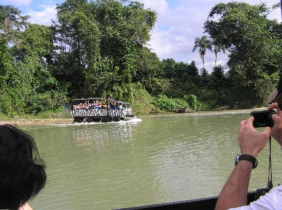 Monster Truck Safari - Puerto Plata Route: crossing the river