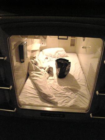 Capsule Hotel Asahi Praza Shinsaibashi : the capsule