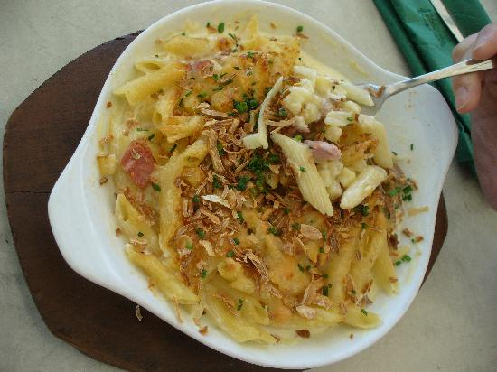 Alpen macaroni at Heidihof Hotel