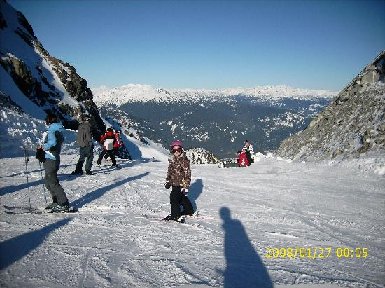 Legends: Aview of the Saddle on top of Whistler mountain