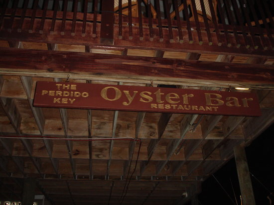Perdido Key Oyster Bar Restaurant: Sign out front