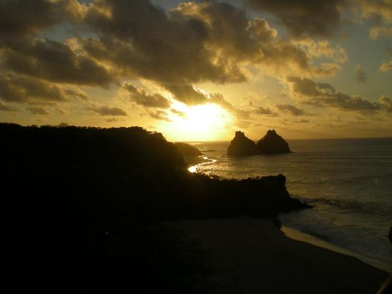 Fernando de Noronha, PE : Sunset behind the Two Brothers