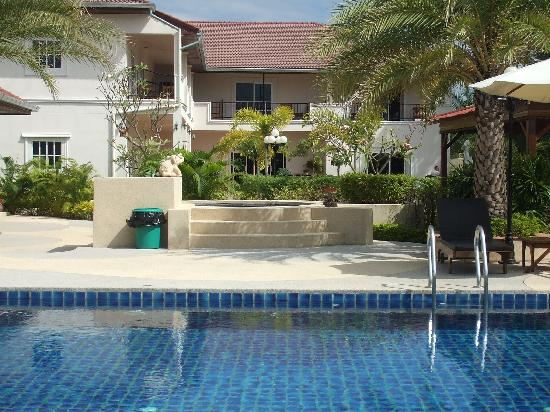Serene Sands Health Resort: View of hotel from poolside