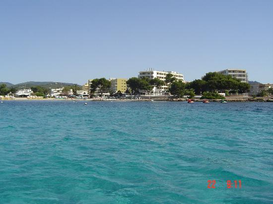 Intertur Hotel Miami Ibiza: Es CanaView from boat
