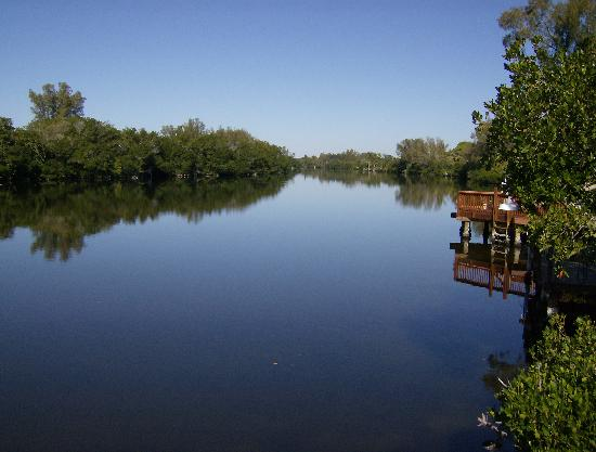 Flip Flop Cottages: View of lagoon from dock