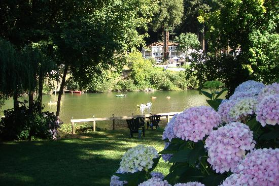 Rio Villa Beach Resort: Well maintained gardens frame the path to the Russian River