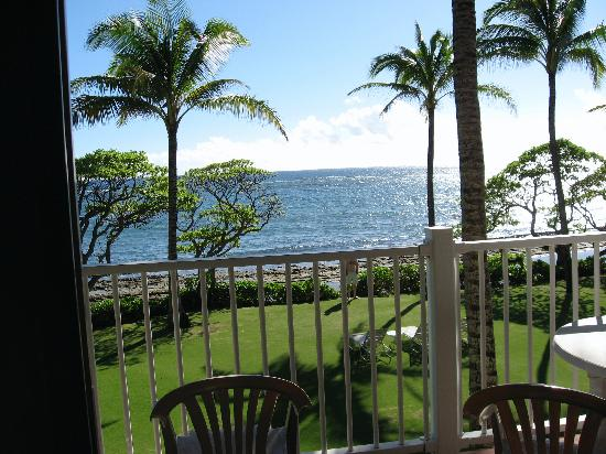 WorldMark at Kapaa Shores: View off Deck of Oceanfront room