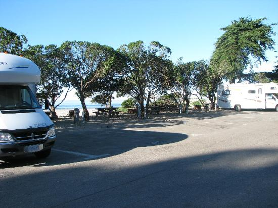 Carpinteria State Beach Campground : beach side rv spots