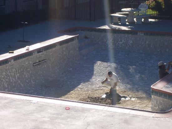 The Buena Park Hotel & Suites: pool under repair