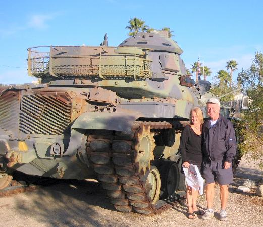 Chiriaco Summit, CA: With tanks outside museum