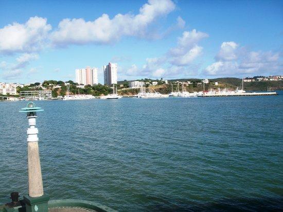 Puerto Rico: Fajardo visto desde el Ferry