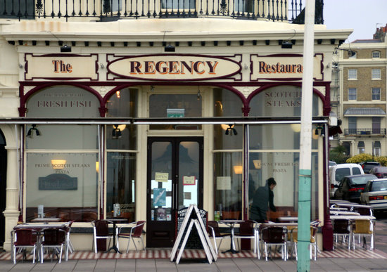 regency restaurant right on brighton 39 s front picture of. Black Bedroom Furniture Sets. Home Design Ideas