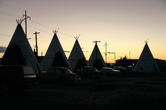 Wigwam Motel: Coucher de soleil