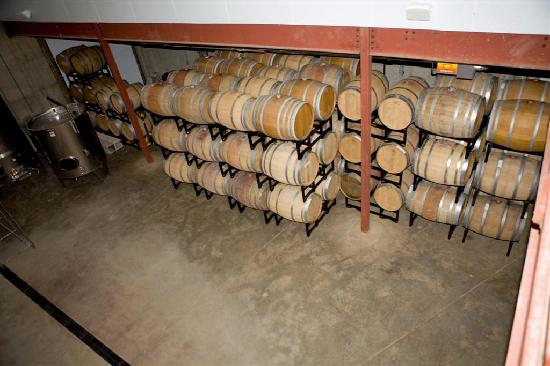 Pollak Vineyards: Storage Barrels