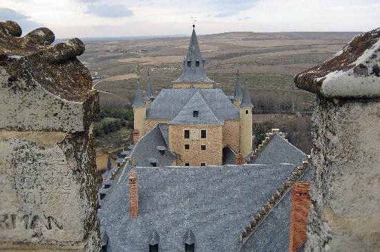 Alcazar de Segovia: Segovia Alcazar - view from atop the tower