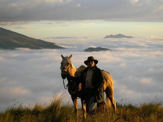 Hacienda La Alegria: Riding above the clouds